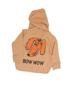 Bow Wow Zip-up Sweatshirt Hoodie, Beige/Grey-Outerwear, Hoodie-benne bonbon
