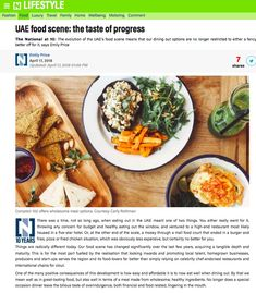 UAE food scene: the taste of progress. Food Court, Uae, Hummus, Scene, Wellness, Dining, Ethnic Recipes, Food, Catering
