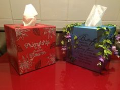 My MDF tissue boxes
