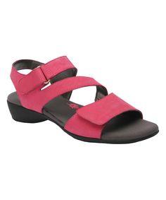 Fuchsia Marilyn Leather Sandal