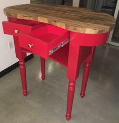 Custom DBG red abstract podium.