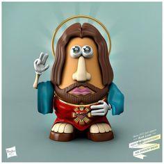 Mr. Potato goes Jesus