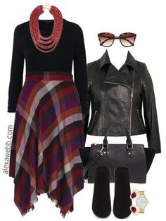 Plus Size Plaid Skirt Outfit - Plus Size Work Outfit - Plus Size Fashion for Women - alexawebb.com #alexawebb
