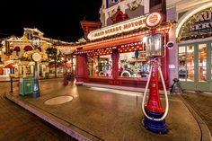 #Disneyland Paris. Main Street by night dark with lights #DLP #DLRP #Disney