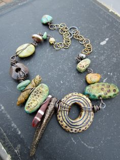 Tribal Zen ARtisan Polymer Bronze Clay Organic by stacilouise,