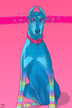 Phazed dog trippy psychedelic friend