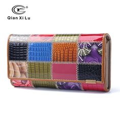 Fair price 2017 New Fashion Patent Leather Women Wallet Female Hasp Purse Long Coin Purses Ladies Plaid Wallet Cowhide box gift just only $15.18 - 16.08 with free shipping worldwide  #womanwallets Plese click on picture to see our special price for you