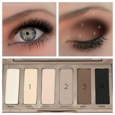EYE MAKEUP GUIDE: Beautiful Eye Makeup – I have this eyeshadow palette (naked basics urban decay). EYE MAKEUP GUIDE: Beautiful Eye Makeup – I have this eyeshadow palette (naked basics urban decay). Beauty Make Up, Hair Beauty, Naked Palette, Eyeshadow Palette, Eyeshadows, Eyeshadow Guide, Neutral Palette, Naked2 Palette Looks, Neutral Colors