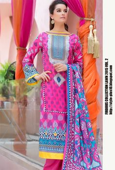 Design 19256 B From Collection Lawn 2015 Vol.2 By Firdous