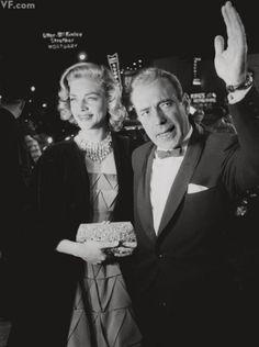 Sunday Night at Oscar's | Vanity Fair  - Lauren Bacall and Humphrey Bogart