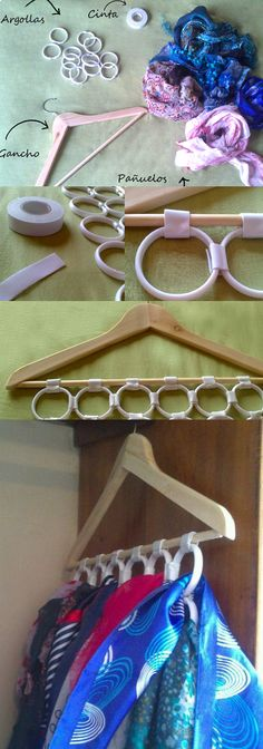 Un práctico gancho de ropa especial para tus pañuelos.