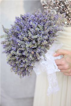 Lavender bridal or bridesmaids bouquet Lavender Cottage, French Lavender, Lavender Blue, Lavender Fields, May Flowers, Beautiful Flowers, Wedding Bouquets, Wedding Flowers, Most Popular Flowers