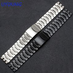 >> Click to Buy << Diamond Stainless Steel Bracelet for Swatch YCS410GX male 19mm Black Silver waterproof watch accessories #Affiliate