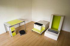 Shelves and Desk Casulo