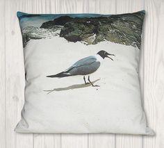 Items similar to Nautical Seagull Pillow Cover - Coastal Decor - x on Etsy Nautical Pillows, Coastal Decor, Pillow Covers, My Photos, Cotton Fabric, Throw Pillows, Group, Board, Prints