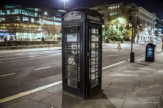 black phone booth - Google Search