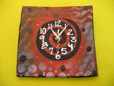 New to PondScumCeramics on Etsy: Wall Clock Modern Wall Clock  10 x 10 (35.00 USD)