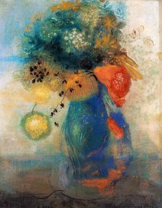 Odilon Redon Vase Of Flowers print for sale. Shop for Odilon Redon Vase Of Flowers painting and frame at discount price, ships in 24 hours. Cheap price prints end soon. Art Floral, Art Et Illustration, Illustrations, Flower Vases, Flower Art, Odilon Redon, Post Impressionism, Oeuvre D'art, Bordeaux