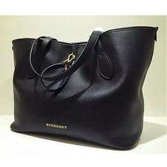 Burberry large shopping bag