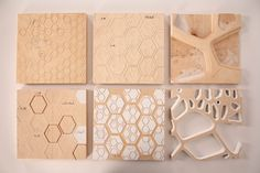 Samples of patterns cut on the CNC.