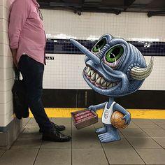 Un artiste fait débarquer des monstres dans le métro new-yorkais - page 5
