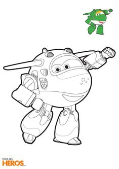 Coloriage Super Wings, Mira l'avion sous-marin Train Coloring Pages, Coloring Pages For Grown Ups, Coloring For Kids, Coloring Pages For Kids, Coloring Books, Wings Drawing, Baby Drawing, Drawing For Kids, Captain America Coloring Pages