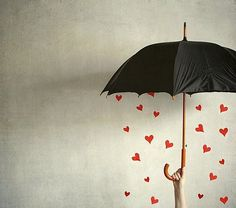 lluvia de corazones