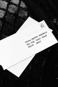 MAISON MARTIN MARGIELA cotton letter stationery