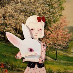 Little Thistle paper doll set with 9 silver brads por woolandwater, $10.00