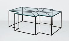Coffee Table No. 2 by Ron Gilad :: Wright Now :: metal and glass :: cocktail table Geometric Furniture, Design Furniture, Metal Furniture, Table Furniture, Contemporary Furniture, Urban Furniture, Luxury Furniture, Chair Design, Multipurpose Furniture