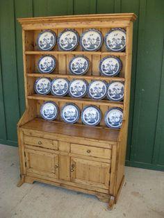 Antique Irish pine dresser