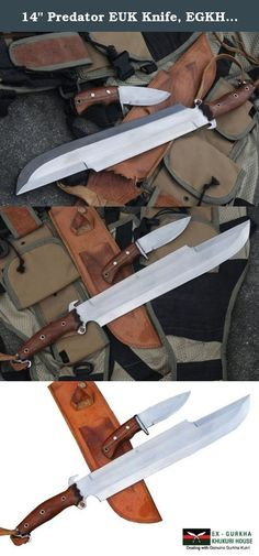 "14"" Predator EUK Knife, EGKH Survival Machete, Military Hunting Khukuri or Kukris Handmade by Ex Gurkha Khukuri House in Nepal. This is 14"" Predator Knife with Extra Utility Knives. This is of the latest product of Ex Gurkha Khukuri House (EGKH). Commando Tactical Knife Combat Knife is designed for survival and for Military Combat Equipment. Survival Knife redesigned for Military, Tactical Combat use. The Tracker Knife is a tool that performs multiple functions. Each area of the knife is..."