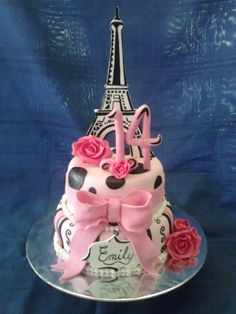 My daughters 14th Paris cake from my fb page Kelly's cakes with flair