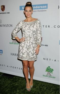 Molly Sims in Marchesa at the Baby2Baby Charity Gala