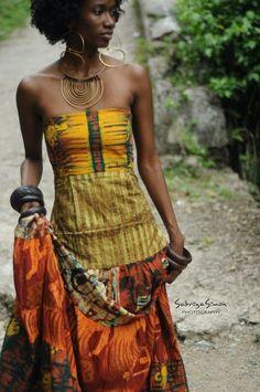 Fabric by N'Ketiah, photo by Sabriya Simon Photography. Love those accessories too!