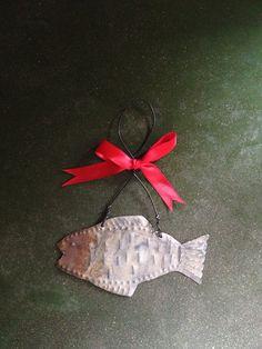 Punched Tin Fish Ornament - Reclaimed Tin - Folk Art