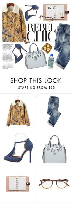 """rebel chic"" by punnky ❤ liked on Polyvore featuring Wrap, Anja, Louis Vuitton, Garrett Leight and Burberry"