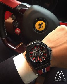 Time to test drive this beast The Hublot Ferrari 'Speciale' limited edition. Limited to 250 pieces.