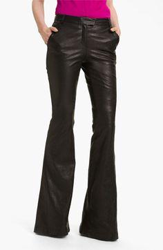Rachel Zoe 'Hutton' Flare Leg Leather Pants (Long) | Nordstrom $850. I die!