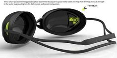 My Pace Goggles - you can see your time as you swim. Could be really good for training.