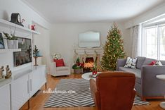 L Shaped Living Room Layout Nalle S House Christmas Tour Dining And