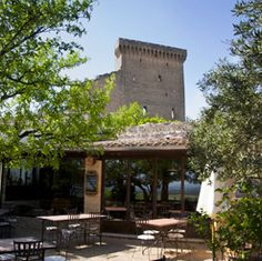 Put this on the to do list. One of the most lovely dining experiences ever! Le Verger des Papes in Chateauneuf du Papes, France Chateauneuf Du Pape, Sabbatical, Gazebo, To Go, Outdoor Structures, France, Dining, House Styles, Places