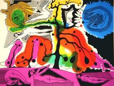 Alfred Pellan, Voltige d'automne, sérigraphie Alfred Pellan, Clarence Gagnon, Beaux Arts Paris, Printmaking, Illustration, Whimsical, Creative, Prints, Laurent
