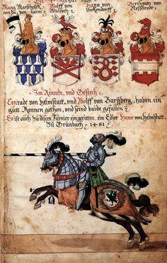 German Tournament Book c. 1500. Manuscript Biblioteca Apostolica, Vatican