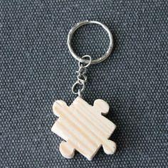 Porte clés bois pièce de puzzle modèle 6