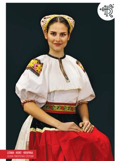 Litava, Hont, Slovakia Folk Costume, Costumes, Traditional Outfits, Snow White, Embroidery, Disney Princess, Disney Characters, Inspiration, Dresses