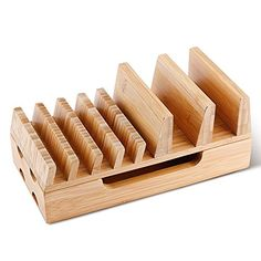 Charging Station, Levin Eco-Friendly Bamboo Charging Station Rack & Docking Organizer for Multiple Devices Such As Smartphones & Tablets %SALE% #carscampus