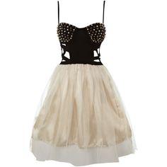 Reverse Stud bustier tutu dress ($80) ❤ liked on Polyvore