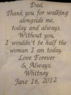 FATHER of the BRIDE  SCRIPT Heirloom Personalized by JoyofGiving, $30.00