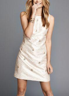 Lusting after this embellished jacquard shift dress.